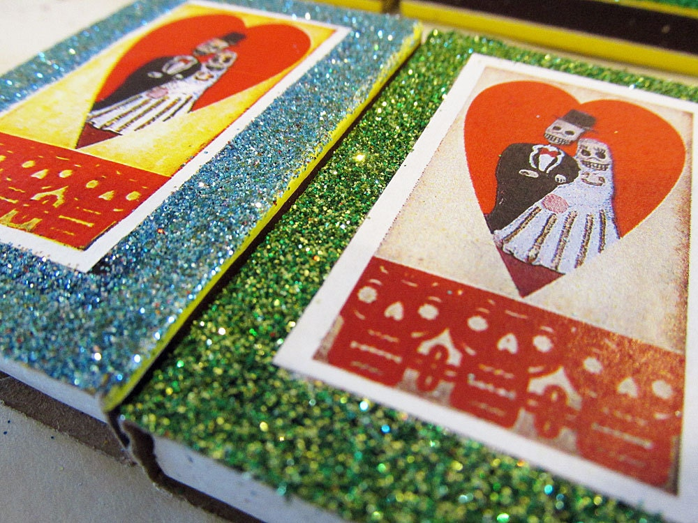 Day Of The Dead Wedding Favors Mexican Matchbox Candy Box
