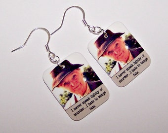 AGATHA CHRISTIE Miss Marple Quote Earrings