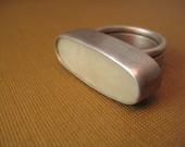 Sterling silver GLOW in dark ring size 5.25
