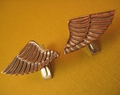 Sterling & Brass wing aviator cuff links