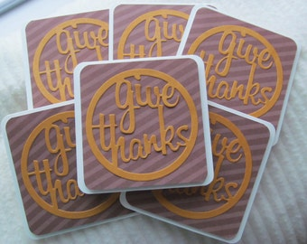 Give Thanks mini cards - set of 5