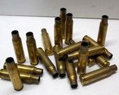Twenty empty ammunition cartridge shell casings for .308W - rifle casings