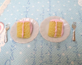 Miniature Food: Cake Slices, Dollhouse Miniatures, Polymer Clay Food Minis