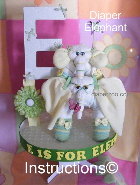 Learn to make Elephants from diapers, washcloths, socks and more. Fun, easy, and can be profitable for stay at home moms.