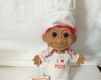 "Vintage Pizza Chef Russ Troll Doll 4""Circa 1990"