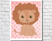 Baby Girl Jungle Nursery Decor Nursery Art Girl Little Girl Print Lion Nursery Pictures Circus Theme Baby Shower Toddler Bedroom Kids Room