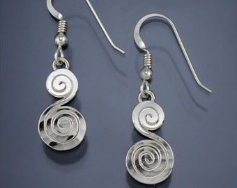 Small Double Spiral Earrings