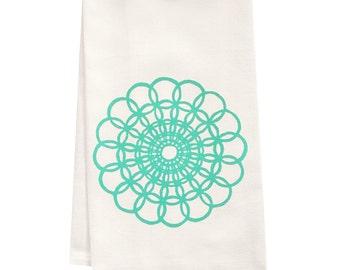 Organic doily tea towel