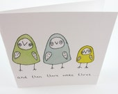 CARD Baby Card for baby number 1 or 3