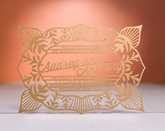 Ritzy Wedding Invitaton, Laser Cut