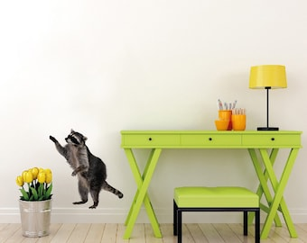"Standing Raccoon Wall Decal - 18"" Tall"