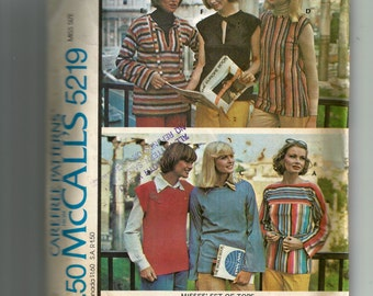 McCall's Misses' Set of Tops for Stretchable Knits Pattern 5219