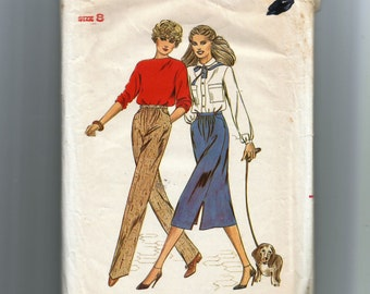 Butterick Misses'  Skirt and Pants Pattern 6895
