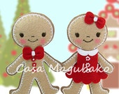 Gingerbread Boy & Girl Ornament Sewing Pattern - Felt Christmas Ornament Tutorial - Instant Download PDF File