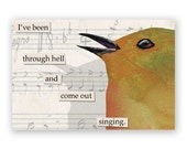 Been Through Hell Magnet - Bird - Humor - Gift - Stocking Stuffer - Music - Singing