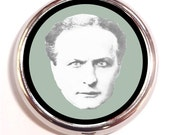Harry Houdini Pill Box Case Pillbox Magic Magician Occult Spooky Pop Art
