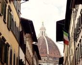florence italy photography, street photography, europe photo, travel decor, church, Il Duomo
