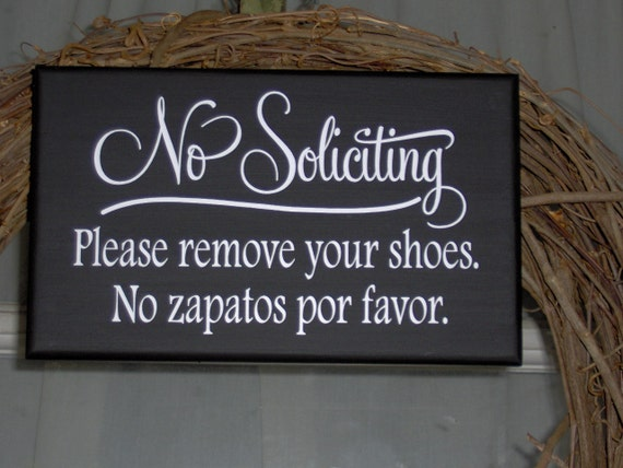 Translate Door Hanger In Spanish No Soliciting Please