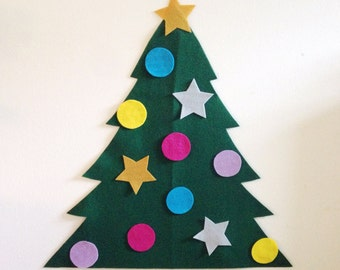 Felt Christmas Holiday Tree for Toddlers & Up - Ready to Ship!