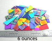 Dichroic Glass Scrap-FREE SHIPPING - 6 ounces CBS 90 coe Black Thin Smooth - Patterns & Solid Colors - Perfect for Jewelry and Mosaics