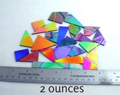 Dichroic Glass Scrap-FREE SHIPPING - 1/8 lb CBS 90 coe Black Thin Smooth - Patterns & Solid Colors - Perfect for Jewelry and Mosaics