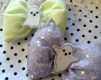 Pastel Ghosts Halloween Hair Bows