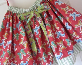 Girls Skirt Holiday Winter Christmas Twirl Size 5 Size 6 Ice Skating