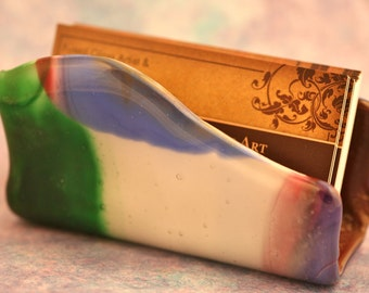 Fused Glass Business Card Holder No. 40