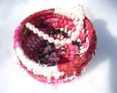 BRACELET COLLECTION  textile art  small storage Basket Number Twelve