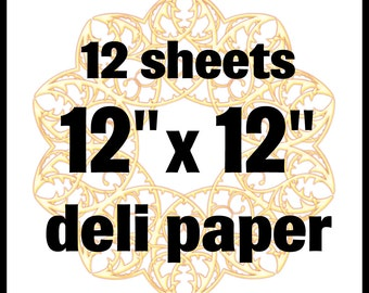 "12""x12"" Deli Wrap Paper for Mixed Media, 12 blank sheets"