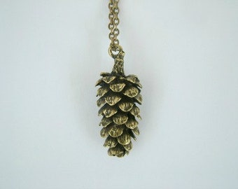 Large Pine Cone Necklace, woodland necklace, tree necklace, pinecone, winter necklace, nature necklace, waldorf, woodland jewellery