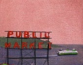 Sale- 65% OFF: Seattle No. 45 - 4in x 4in Original Painting