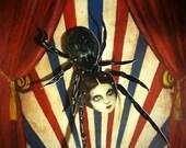 Victorian Inspired Circus/Coney Island Paper Dolls Individual Prints Arachnidea