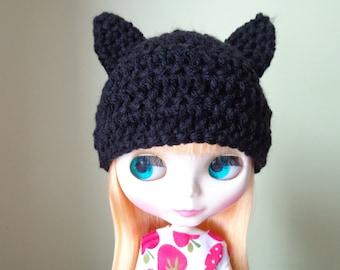 BLACK kitty ears for Blythe