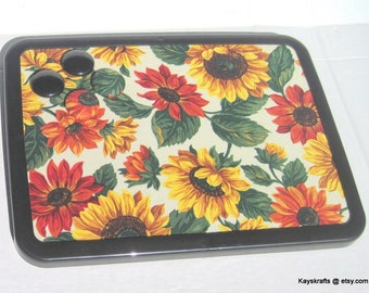 Yellow Sunflowers  Magnetic Board Magnetic Bulletin Board Magnet Board 4 Button Magnets Kitchen Decor Moms Decor