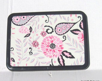 Pink And Black Paisley Magnetic Board Magnetic Bulletin  Board Magnet Board Magnetic Memo Board 8x11 Girls Bedroom Decor