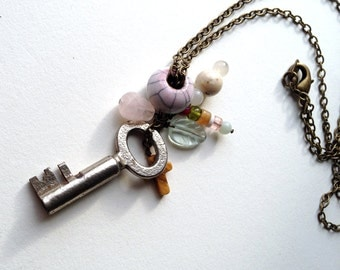 Antique Key Necklace {15}