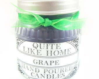 CLEARANCE Grape scented 4 oz. container candle