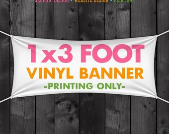 1x3 Vinyl Banner for your Craft Fair Display