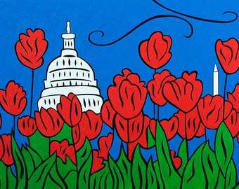 DC Tulip Pop - 11x14 matted print by Joel Traylor