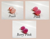 10x14 round czech glass teardrops - Pink - teardrops only - pick your color - interchangeable earrings - one pair