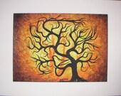 Autumn  Forest, Fine art, Original Acrylic painting by TREEARTIST on ETSY, Jordanka Yaretz