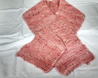 Pink Ladies' Hand-Knit Alpaca/Wool Scarf