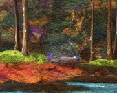 No.784 In the Woods - Needlefelt Art XL - Wool Painting