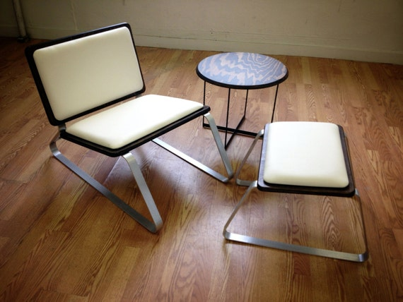 Ply Bak Lounge Chair and ottoman Classic Mid Century Style