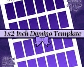 1x2 inch Rectangle Domino DIY DIGITAL Collage Sheet TEMPLATE 8.5x11 Page with Video Tutorial Instructions (Instant Download)