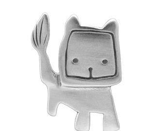 Leo Necklace - Sterling Silver Zodiac Charm - Lion Pendant