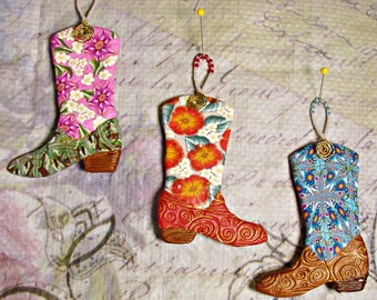 Cowboy Boot ornaments ORN0017-15
