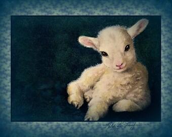 Baby Lamb Art by Melody Lea Lamb 8 x 10 Giclee Print