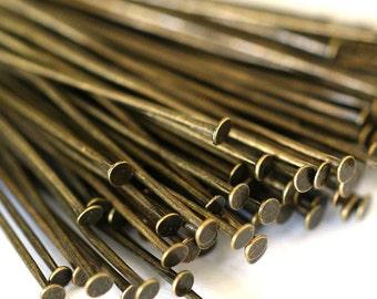 150ps 35mm Antique Bronze Headpins